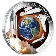 Серебряная орбитальная монета 1981 ПЕРВЫЙ КОСМИЧЕСКИЙ ШАТТЛ 2010