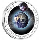 Silver Orbital Coin 50TH ANNIVERSARY OF SPUTNIK 1957 -  2007