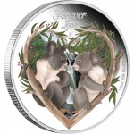 Silver Colored Coin FOREVER LOVE 2012