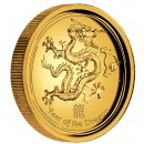 "Gold High Relief Coin YEAR OF THE DRAGON 2012 ""Lunar II"" - 1oz, Proof"