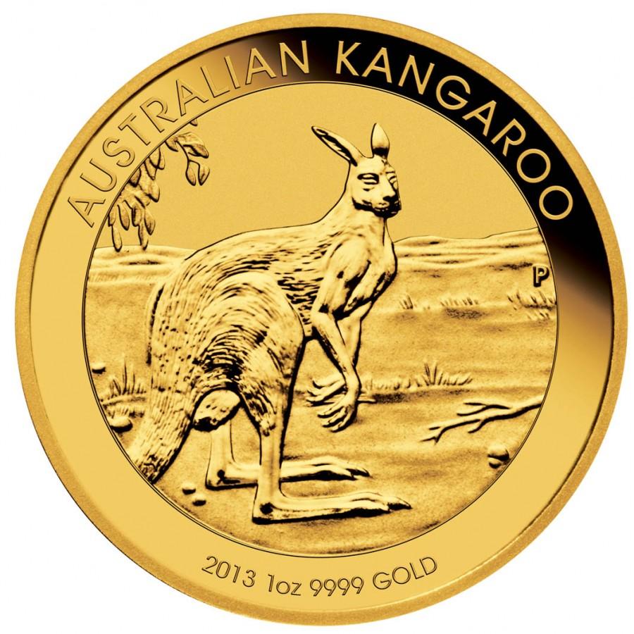 Gold Bullion Coin Australian Kangaroo 2013 1 Oz