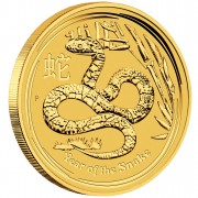 "Gold Bullion Coin YEAR OF THE SNAKE 2013 ""Lunar"" Series - 1/2 oz"