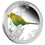 "Silver Coin BUDGERIGAR 2013 ""Birds of Australia"" Series  - 1/2 oz, Proof"