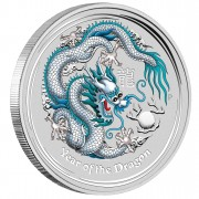 "Silver Coin YEAR OF THE DRAGON 2012 ""Lunar II"" - 1oz"