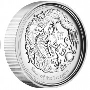"Silver High Relief Coin YEAR OF THE DRAGON 2012 ""Lunar II"" - 1oz, Proof"