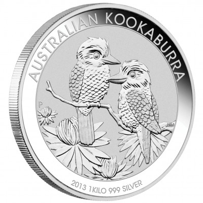 Silver Bullion Coin AUSTRALIAN KOOKABURRA 2013 - 1kg