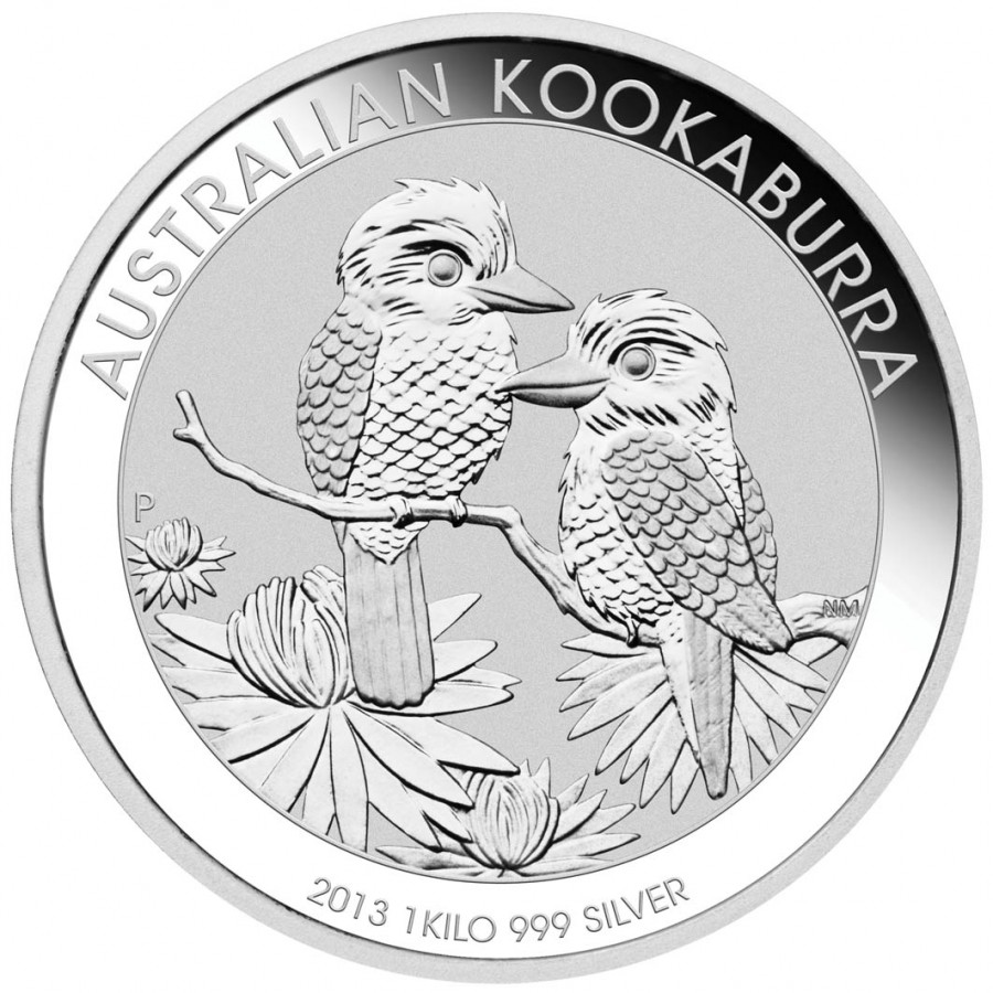 Silver Bullion Coin Australian Kookaburra 2013 1kg