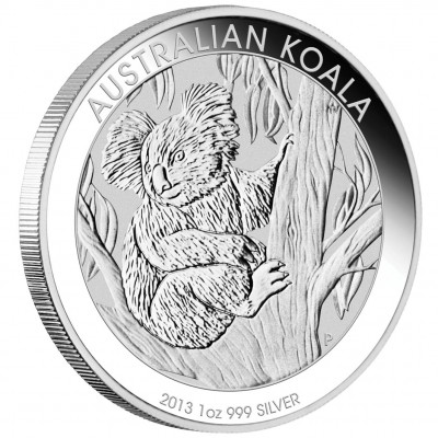 Silver Bullion Coin AUSTRALIAN KOALA 2013 - 1 oz