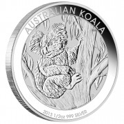 Silver Bullion Coin AUSTRALIAN KOALA 2013 - 1/2 oz