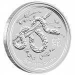"Silver Bullion Coin YEAR OF THE SNAKE 2013 ""Lunar"" Series - 5 oz"