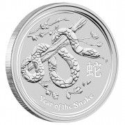"Silver Bullion Coin YEAR OF THE SNAKE 2013 ""Lunar"" Series - 1/2 oz"
