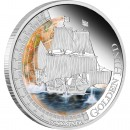 "Silver Coin GOLDEN HIND 2011 ""Ships That Changed the World"" Series"
