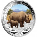"Silver Coin BLACK RHINOCEROS 2012 ""Wildlife in Need"" Series"