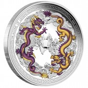 "Silver Colored Coin CHINESE DRAGON 2012 ""Dragons of Legend"" Series - 5 oz"