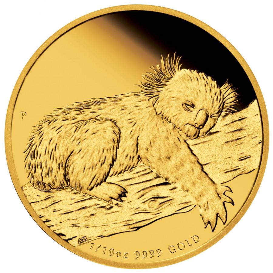 Gold Coin Australian Koala 2012 1 10 Oz Proof