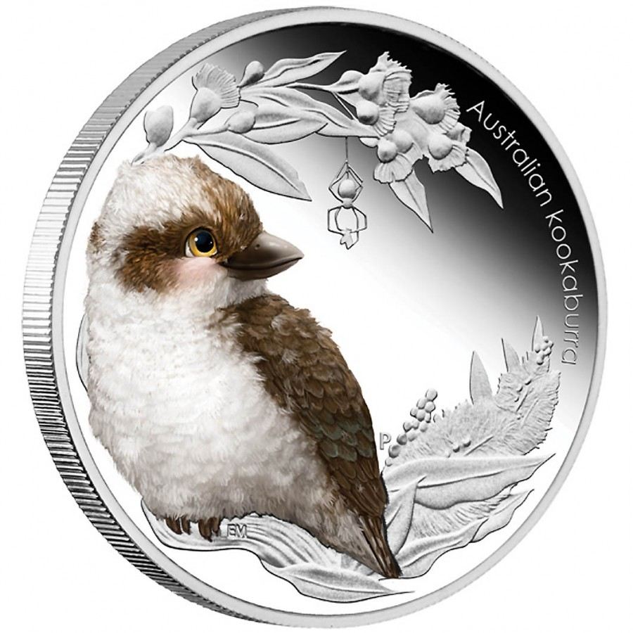 Монета кукабарра австралия серебро штамп почта полевая