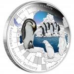 "Silver Coin THE EMPEROR PENGUIN 2012 ""Australian Antarctic Territory"" Series"