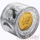 Niue Island 3 oz Fortuna Redux Mercury Cylinder Silver Coin $25 Proof 2014 NEW edition!!!