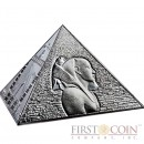 Niue Island The Great Pyramids $15 Pyramid Shaped Silver coin 3 oz Proof 2014