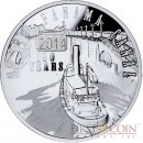 Niue 100th anniversary of the Panama Canal $1 Colored Silver Coin Latent Image Proof 2014