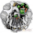Niue The Year of the Goat $1 Lunar Chinese Calendar Cabbage-shaped Colored Silver Coin Proof 2015