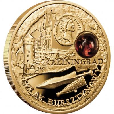 Золотая монета КАЛИНИНГРАД 2008 серии «Янтарный Путь»