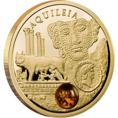 Золотая монета АКВИЛЕЯ 2011 серии «Янтарный Путь»