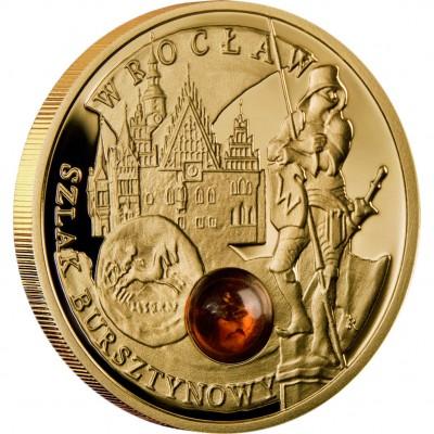 Золотая монета ВРОЦЛАВ 2009 серии «Янтарный Путь»