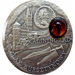 """Silver Coin KALININGRAD 2008 """"Amber Route"""" Series"""