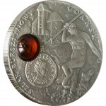 """Silver Coin GDANSK 2008 """"Amber Route"""" Series"""