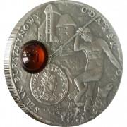 Серебряная монета ГДАНЬСК 2008 серии «Янтарный Путь»