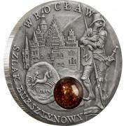 Серебряная монета ВРОЦЛАВ 2009 серии «Янтарный Путь»