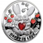 Silver Coin HAPPY IN LOVE 2012