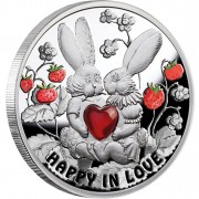 Silver Coin HAPPY IN LOVE 2012