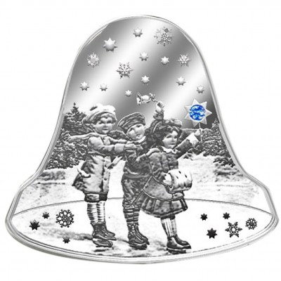 Silver Coin CHRISTMAS BELL 2012