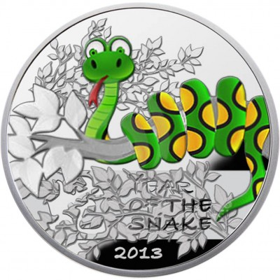 "Silver Coin YEAR OF THE SNAKE 2012 ""CHINESE CALENDAR"" Series"