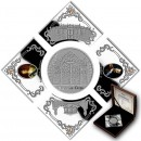 Niue Island Tsarskoe Selo $10 Five Colored Silver coin set with Amber insert Proof 2012 ~1.9 oz
