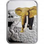 "Silver Coin ELEPHANT HUNTING 2011 ""Art of Hunting"" Series"