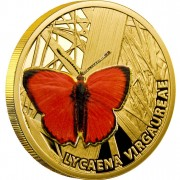 "Gold Coin SCARCE COPPER 2010 ""Butterflies"" Series"