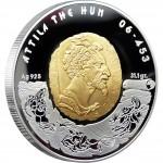Серебряная монета АТТИЛА 2009 серии «Великие Полководцы»