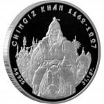 Серебряная монета ЧИНГИЗ ХАН 2008 серии «Великие Полководцы»