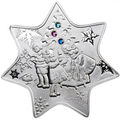 Silver Coin CHRISTMAS STAR 2010