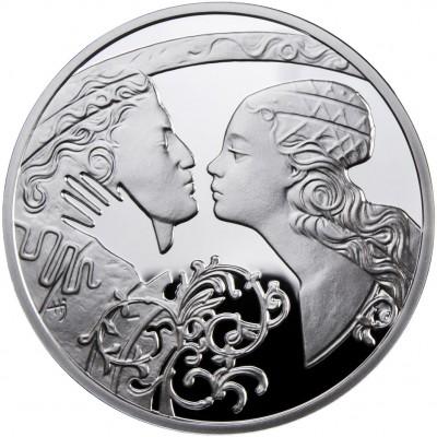 Серебряная монета РОМЕО И ДЖУЛЬЕТТА 2010 серии «Знаменитые Истории  о Любви»