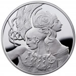 "Silver Coin SAMSON AND DELILAH 2010 ""Famous Love Stories"" Series"