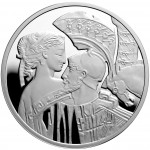 """Silver Coin PARIS AND HELEN 2010 """"Famous Love Stories"""" Series"""