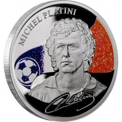 "Silver Coin MICHEL PLATINI 2011 ""Kings of Football"" Series"