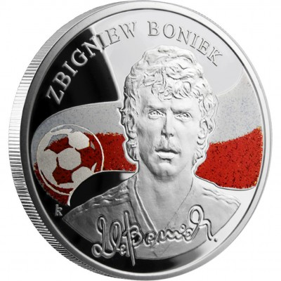 "Silver Coin ZBIGNIEW BONIEK 2009 ""Kings of Football"" Series"
