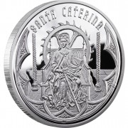 "Silver Coin SAINT CATHERINE 2010 ""Holy Helpers"" Series"