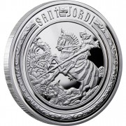 "Silver Coin SAINT GEORGE 2010 ""Holy Helpers"" Series"