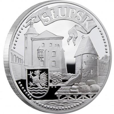 Серебряная монета СЛУПСК 2010 серии «Ганзейские Города»